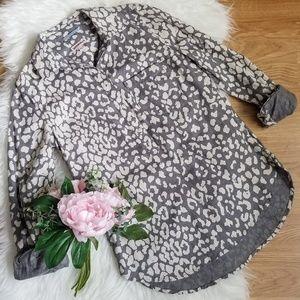 Merona Cheetah Print Collared Shirt
